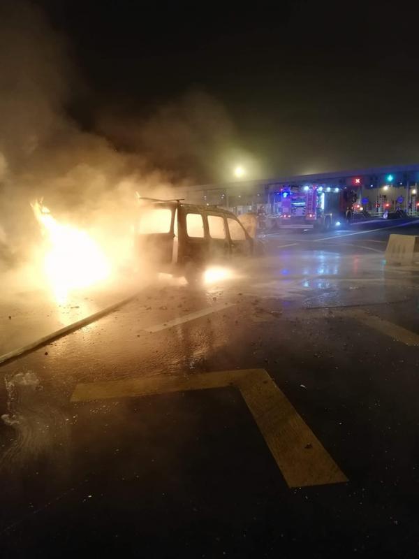 Groźny ogień na A4 wKarwianach