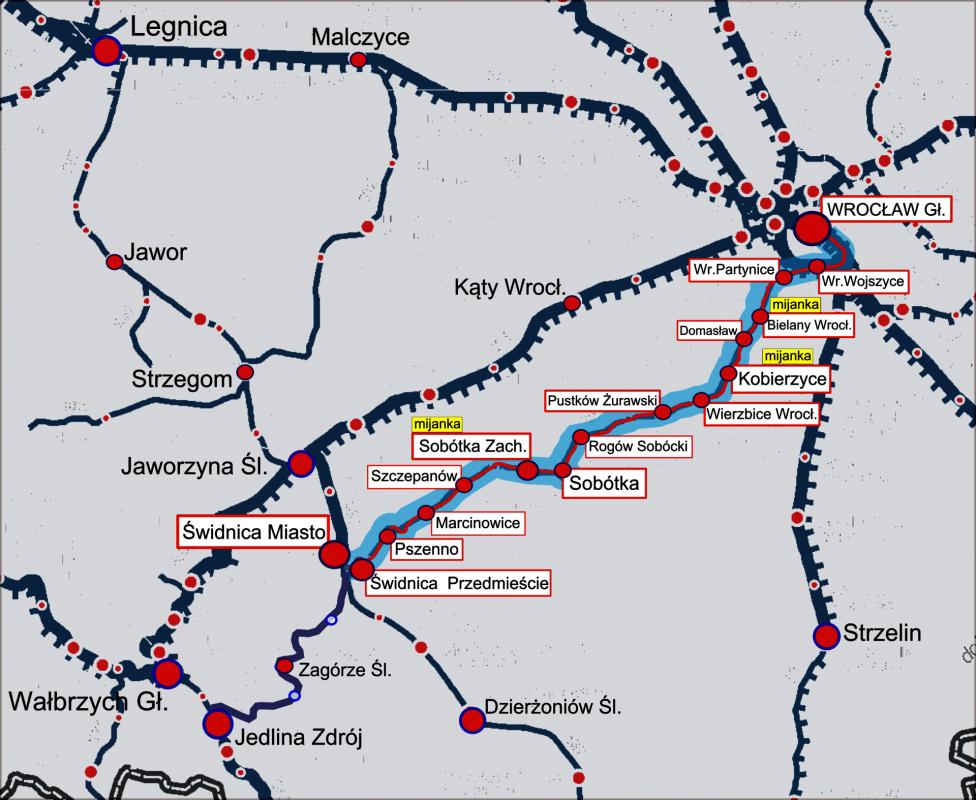 Bliżej podróży pociągiem zWrocławia doSobótki iŚwidnicy
